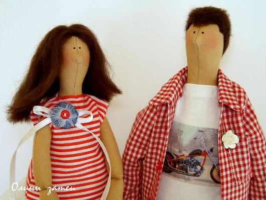 Куклы Тильды ручной работы. Ярмарка Мастеров - ручная работа. Купить Портретная семейная парочка в стиле Тильда. Handmade.