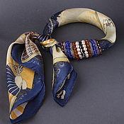 """Украшения ручной работы. Ярмарка Мастеров - ручная работа Платок """"Lazuli"""" с натуральными камнями и цирконами. Handmade."""