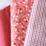 Материалы для творчества ручной работы. Ярмарка Мастеров - ручная работа Набор тканей Темно-розовый. Handmade.