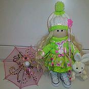 Куклы и игрушки ручной работы. Ярмарка Мастеров - ручная работа Яркая и нарядная куколка Веста. 28см.. Handmade.