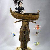 Куклы и игрушки ручной работы. Ярмарка Мастеров - ручная работа кукольная композиция Юный принц Джиничиро и Морской Старик.. Handmade.