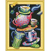 """Наборы для творчества ручной работы. Ярмарка Мастеров - ручная работа Набор мозаики на подрамнике """"Безумное чаепитие"""", 40х50 см. Handmade."""