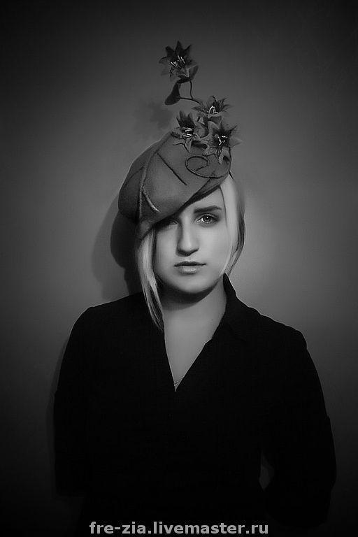 """Шляпы ручной работы. Ярмарка Мастеров - ручная работа. Купить Коктейльная шляпка """"Les sonnettes"""". Handmade. Шляпка"""