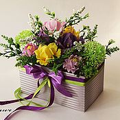 Сувениры и подарки handmade. Livemaster - original item Gifts: Bouquet of Irises soap. Handmade.