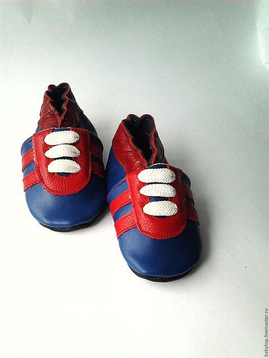 Кожаные тапочки  `Кроссовки` (от0-3).пинетки .чешки.домашняя обувь