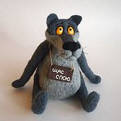 Куклы и игрушки handmade. Livemaster - original item Grey wolf