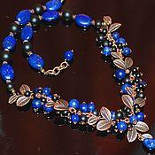 handmade. Livemaster - original item Necklace with lapis lazuli