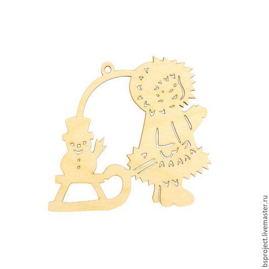 """Декупаж и роспись ручной работы. Ярмарка Мастеров - ручная работа. Купить Арт. DZ90060 Форма для декора """"Зимняя прогулка"""". Handmade."""