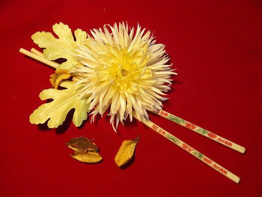 """Цветы ручной работы. Ярмарка Мастеров - ручная работа. Купить брошь """"Хризантема"""". Handmade. Брошь-цветок, атлас"""