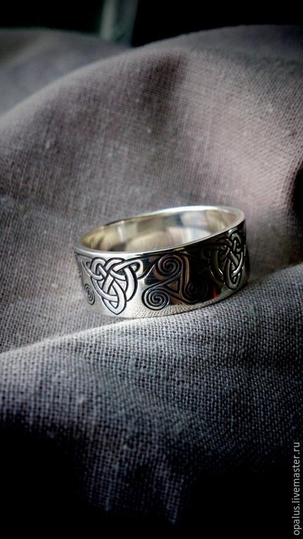 """Украшения для мужчин, ручной работы. Ярмарка Мастеров - ручная работа. Купить кольцо """"Дублин"""". Handmade. Серебряные украшения, ирландское"""