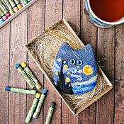 Куклы и игрушки ручной работы. Ярмарка Мастеров - ручная работа Кот Ван Гога - Звездная ночь - коллекционная войлочная игрушка. Handmade.