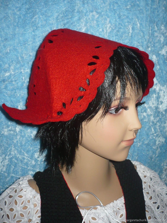 Выкройка и пошив чепчика Красной Шапочки для новогоднего костюма 79