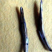 Материалы для творчества ручной работы. Ярмарка Мастеров - ручная работа Бусина из натурального перламутра, на две нити. Handmade.