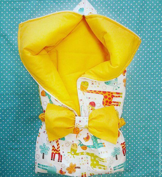 конверт жирафики конверт-трансформер. на выписку. плед детский. на заказ. в наличии. одеяло-конверт. для новорожденного. ручная работа. гнездышко для новорожденного