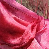 Аксессуары ручной работы. Ярмарка Мастеров - ручная работа Шелковый палантин  Розовые мечты шелковый шарф. Handmade.