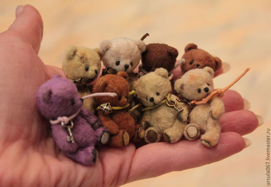 Мишки Тедди ручной работы. Ярмарка Мастеров - ручная работа. Купить Мишки-малышки))). Handmade. Мишки тедди, бежевый
