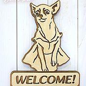 Для дома и интерьера handmade. Livemaster - original item Wooden key holder for keys in the hallway with a dog. Handmade.