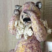 Куклы и игрушки ручной работы. Ярмарка Мастеров - ручная работа Сухоцвет ( сидя 21) (мишки тедди). Handmade.