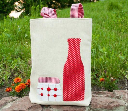 Женские сумки ручной работы. Ярмарка Мастеров - ручная работа. Купить Летняя сумка. Handmade. Ярко-красный, вместительная сумка