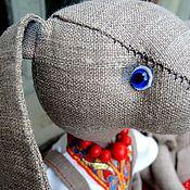 Куклы и игрушки ручной работы. Ярмарка Мастеров - ручная работа Льняной зайка. Handmade.
