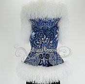 """Одежда ручной работы. Ярмарка Мастеров - ручная работа Жилет с капюшоном """"Морозко-18"""" с натуральным мехом ламы. Handmade."""