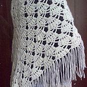 Аксессуары ручной работы. Ярмарка Мастеров - ручная работа ажурная шаль- накидка. Handmade.
