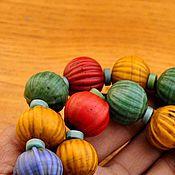 Материалы для творчества ручной работы. Ярмарка Мастеров - ручная работа 14, 17 мм Непальские бусины тыквы старые. Handmade.