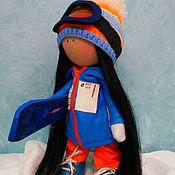 Куклы и игрушки ручной работы. Ярмарка Мастеров - ручная работа Текстильная кукла Сноубордистка. Handmade.