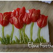 """Косметика ручной работы. Ярмарка Мастеров - ручная работа """"Тюльпаны"""" Мыло ручной работы. Handmade."""