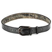 handmade. Livemaster - original item Mormont leather belt (black). Handmade.