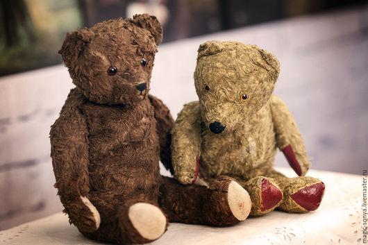 Винтажные куклы и игрушки. Ярмарка Мастеров - ручная работа. Купить Винтажный коллекционный медведь Тедди (Великобритания) с красными пятк. Handmade.