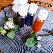 Материалы для творчества handmade. Livemaster - original item Dry aniline dye for silk, fabric, wool, yarn, boom (10g). Handmade.