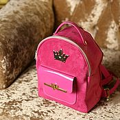 Рюкзаки ручной работы. Ярмарка Мастеров - ручная работа Кожаный рюкзак из натуральной кожи велюр-замши  и лаковой кожи. Handmade.