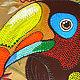 Животные ручной работы. картина,  рисунок на стекле, точечная роспись Тукан 21  х 30 см. Маскаева Ольга (maskaevadecor). Интернет-магазин Ярмарка Мастеров.
