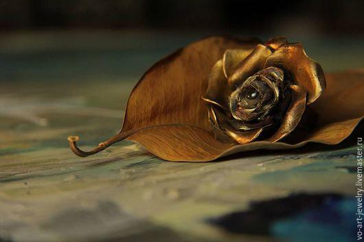 """Кольца ручной работы. Ярмарка Мастеров - ручная работа. Купить кольцо """"Роза"""". Handmade. Коричневый, Бронза ручной работы"""