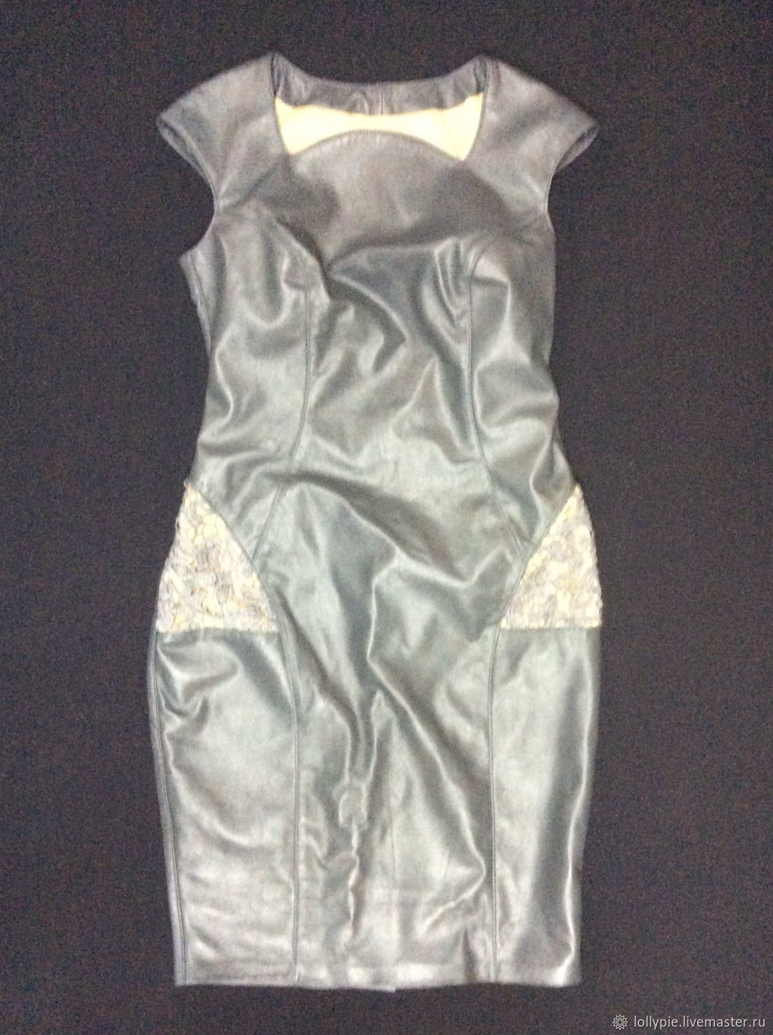 Genuine leather dress with lace, Dresses, Moscow,  Фото №1