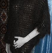 Одежда ручной работы. Ярмарка Мастеров - ручная работа Пончо из козьего пуха - крючком. Handmade.