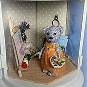 """Куклы и игрушки ручной работы. Ярмарка Мастеров - ручная работа Румбокс в фонарике """"Мастерская художницы"""". Handmade."""