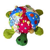 Куклы и игрушки ручной работы. Ярмарка Мастеров - ручная работа Развивающая игрушка Черепашка Бусинка. Handmade.