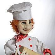 Мягкие игрушки ручной работы. Ярмарка Мастеров - ручная работа Кукла повар . Подарок. Handmade.