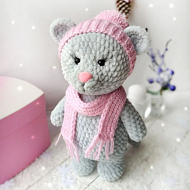 Souvenirs and gifts handmade. Livemaster - original item The mouse in the pink cap. Christmas toy. Handmade.