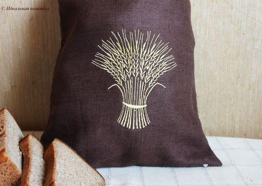 """Кухня ручной работы. Ярмарка Мастеров - ручная работа. Купить Мешок д/хлеба """"Сноп пшеницы"""". Handmade. Натуральный, идеальная вышивка"""