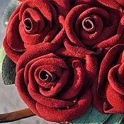 """Классическая сумка ручной работы. Ярмарка Мастеров - ручная работа Кожаная сумка - """" Корзина с розами"""". Handmade."""