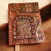 Блокноты ручной работы. Ярмарка Мастеров - ручная работа Блокнот Старый домик. Handmade.