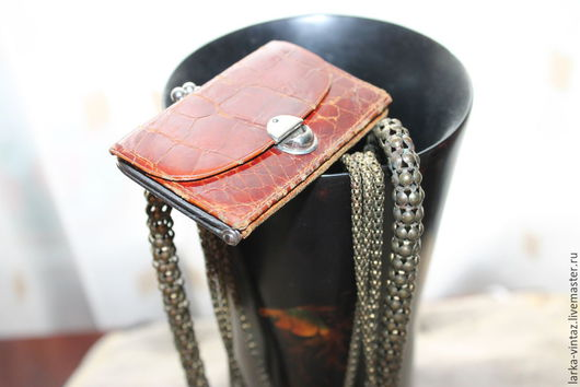 мини кошелек, кошелек винтаж, кошелек из натуральной кожи,