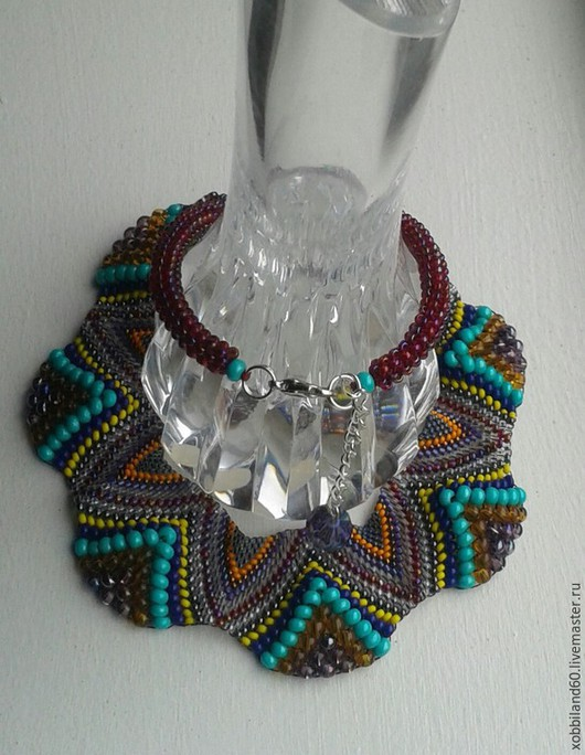 """Колье, бусы ручной работы. Ярмарка Мастеров - ручная работа. Купить Ожерелье """"Самарканд"""".. Handmade. Разноцветный, яркое украшение"""