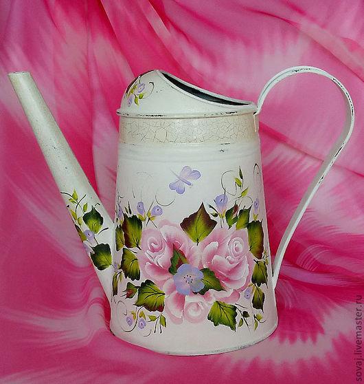 """Лейки ручной работы. Ярмарка Мастеров - ручная работа. Купить Лейка для полива комнатных растений """" Нежные розы"""". Handmade."""