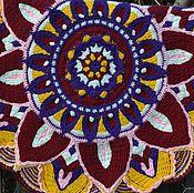 Для дома и интерьера handmade. Livemaster - original item Mat - mandala crocheted