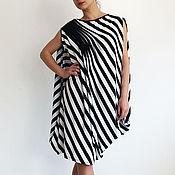 Одежда handmade. Livemaster - original item HARMONIKA draped asymmetrical tunic dress. Handmade.