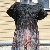 Одежда ручной работы. Ярмарка Мастеров - ручная работа Платье жатое Летняя ночь. Handmade.
